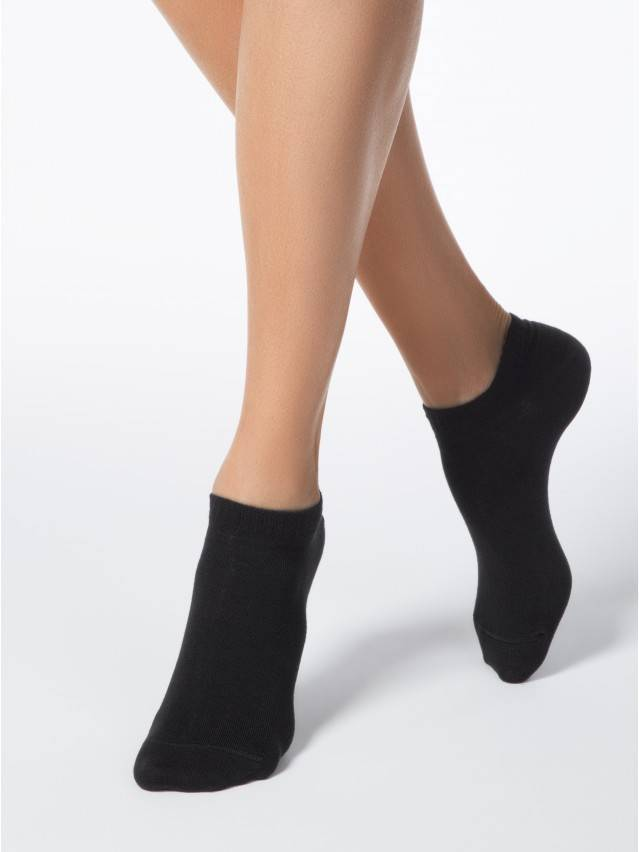 Носки хлопковые женские ACTIVE (ультракороткие) 15С-46СП, р. 36-37, черный, рис. 000 - 1