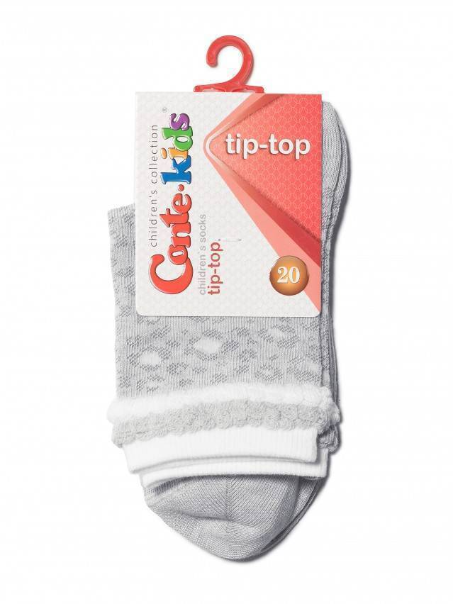 Носки хлопковые детские TIP-TOP (пикот) 14С-15СП, p. 20, светло-серый, рис. 193 - 2