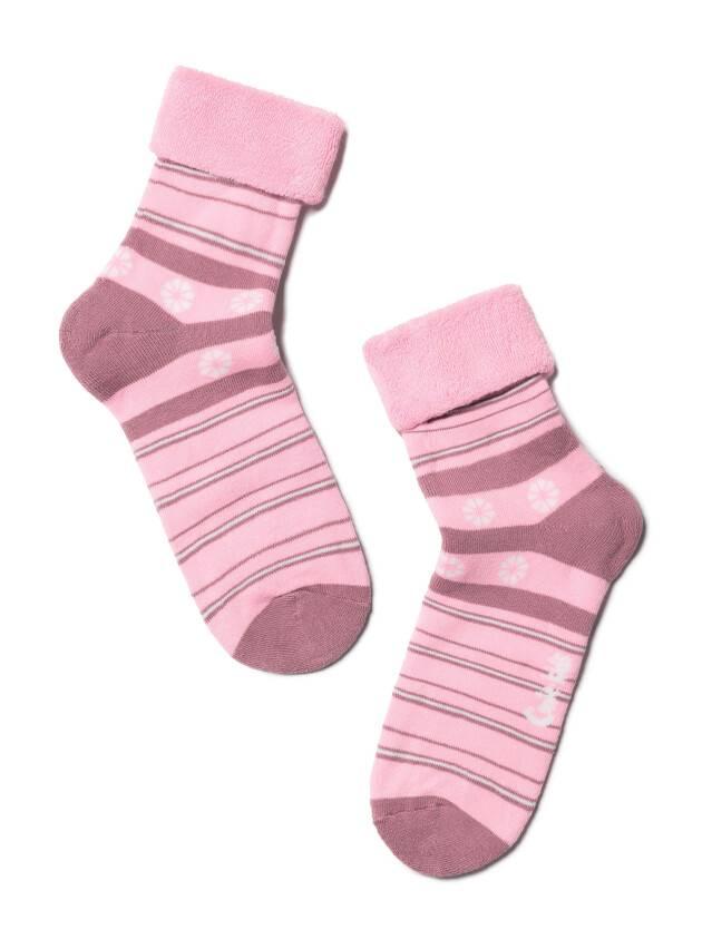 Носки хлопковые детские SOF-TIKI (махровые с отворотом) 6С-19СП, p. 22, светло-розовый, рис. 043 - 1