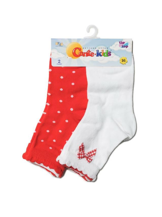 Носки хлопковые детские TIP-TOP (2 пары, пикот) 7С-90СП,7С-100СП, p. 12, белый-красный, рис. 705 - 4