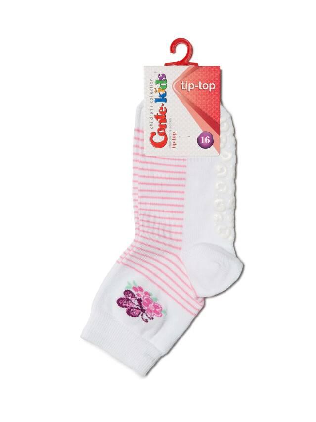 Носки хлопковые детские TIP-TOP (антискользящие) 7С-54СП, p. 16, белый, рис. 160 - 2