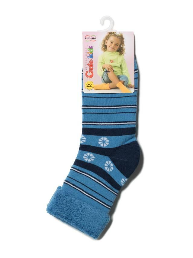 Носки хлопковые детские SOF-TIKI (махровые с отворотом) 6С-19СП, p. 22, голубой, рис. 043 - 2