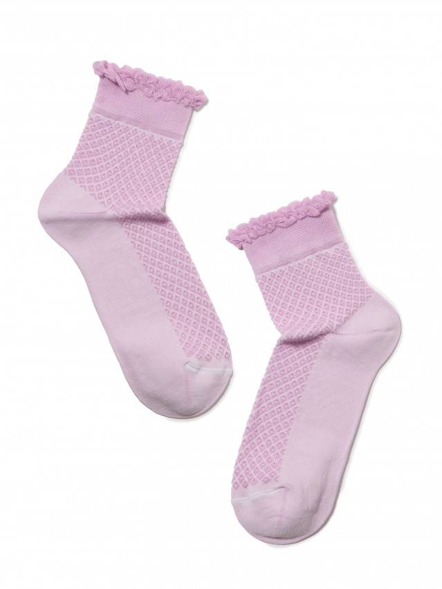 Носки хлопковые женские CLASSIC (тонкие, пикот) 15С-22СП, р. 36-37, сиреневый, рис. 055 - 2