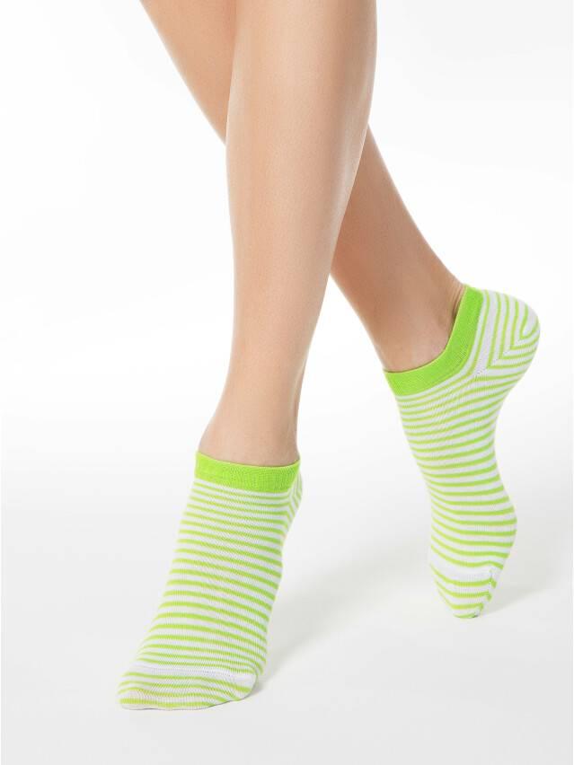 Носки хлопковые женские ACTIVE (ультракороткие) 15С-46СП, р. 36-37, белый-салатовый, рис. 073 - 1