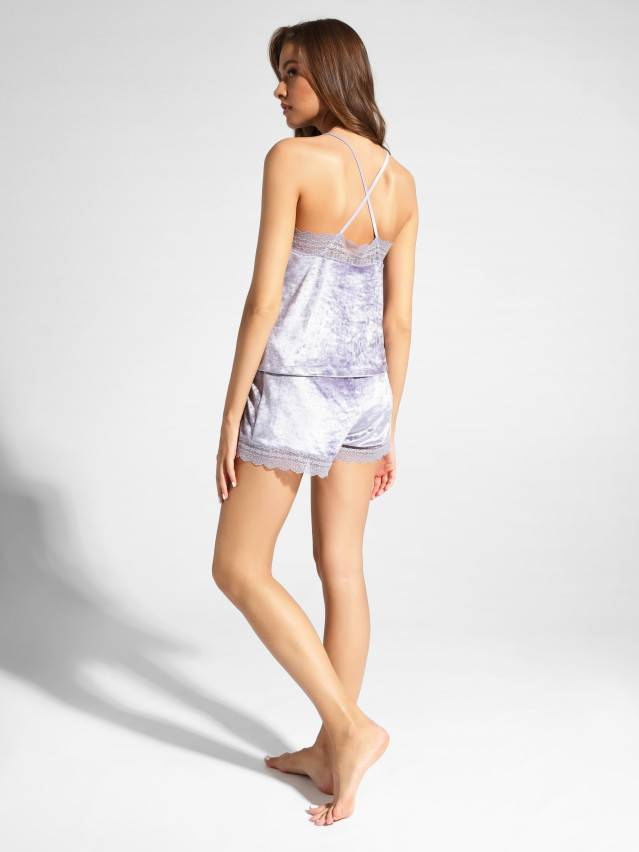 Velour top for home VELVET LOUNGEWEAR LHW 1008, s.170-84, grey-lilac - 2