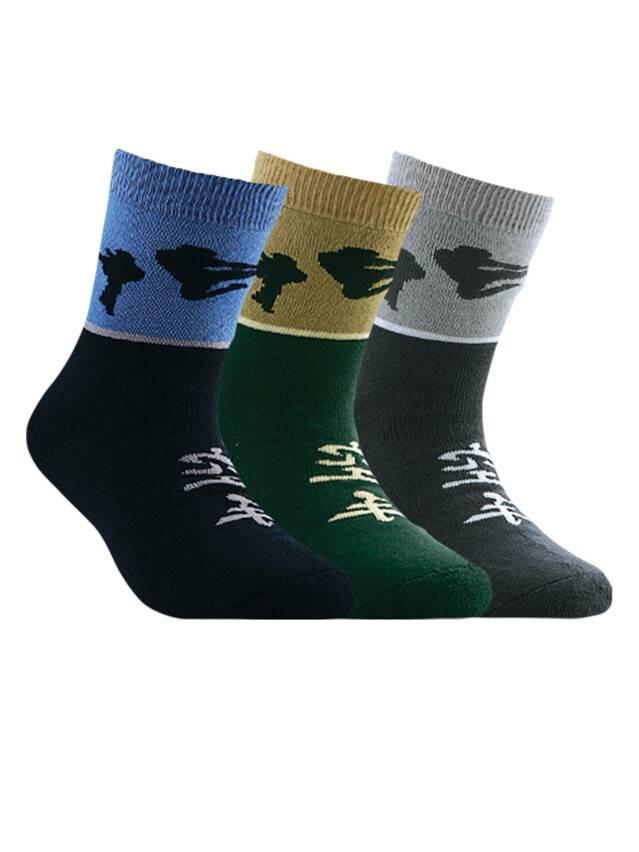Носки хлопковые детские SOF-TIKI (махровые) 7С-46СП, p. 20, темно-зеленый, рис. 092 - 1