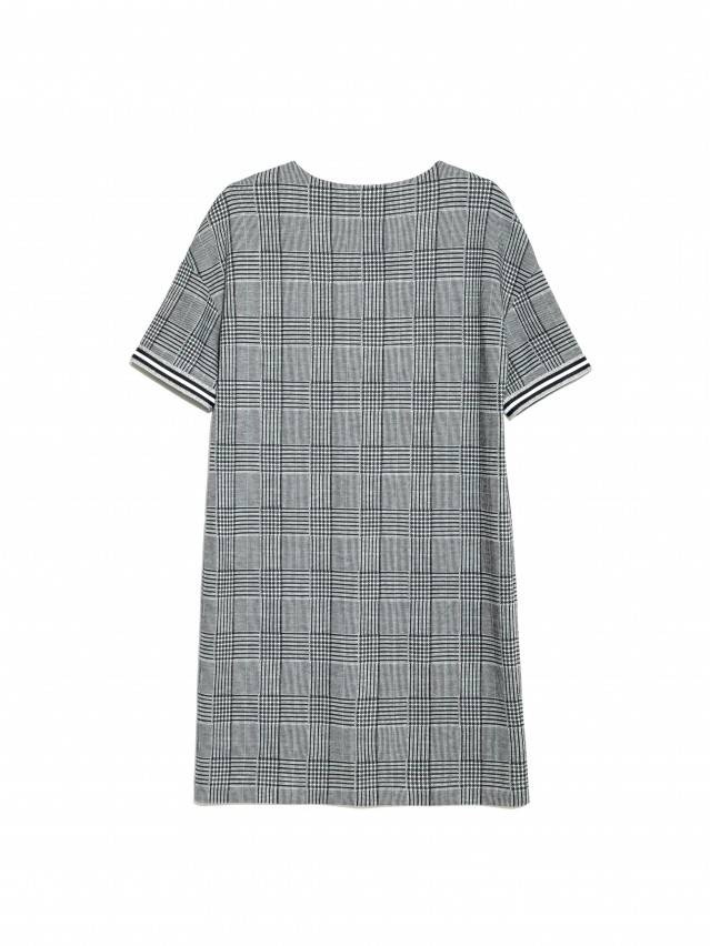 Ультрамодное платье А-силуэта в клетку LPL 893 6