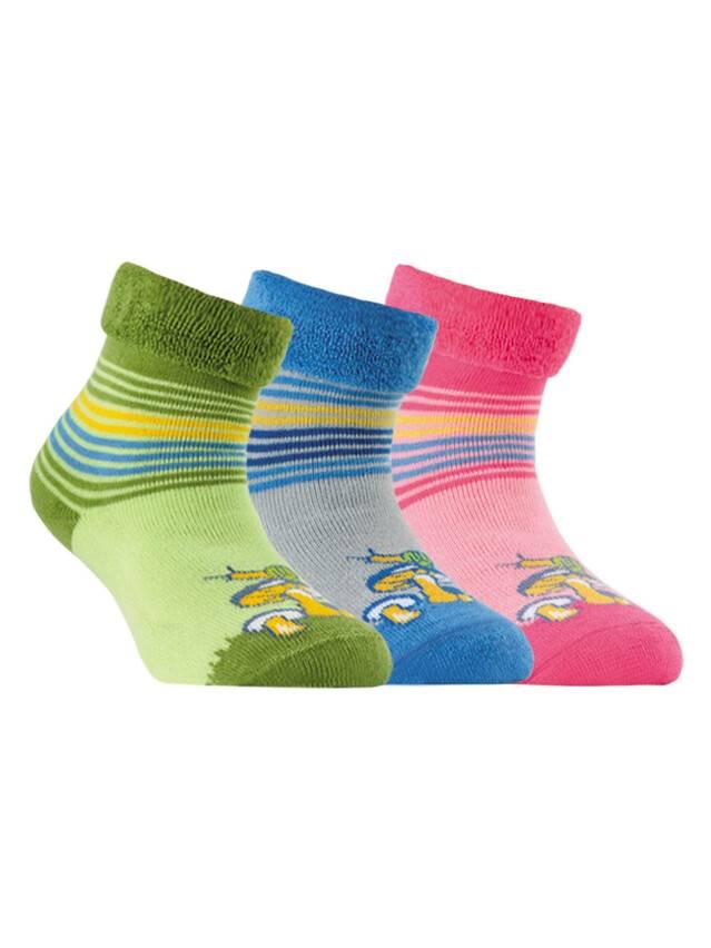 Носки хлопковые детские SOF-TIKI (махровые с отворотом) 6С-19СП, p. 14, светло-розовый, рис. 052 - 1