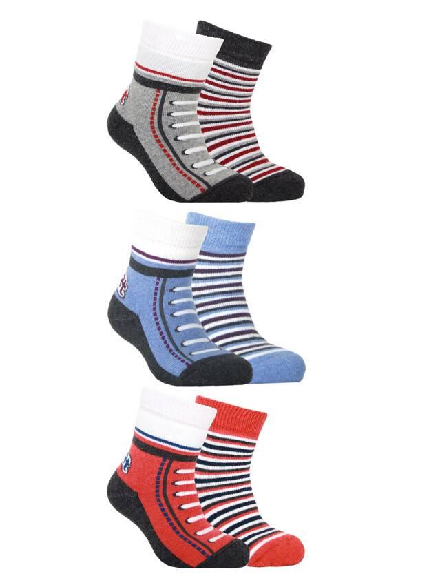 Носки хлопковые детские SOF-TIKI (махровые, 2 пары) 7С-93СП, p. 12, белый-красный, рис. 704 - 1
