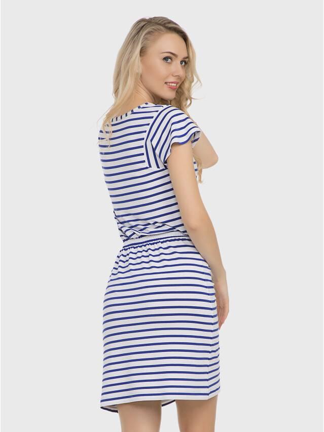 Платье LPL 733, р.158,164-84-90, белый-василек - 1