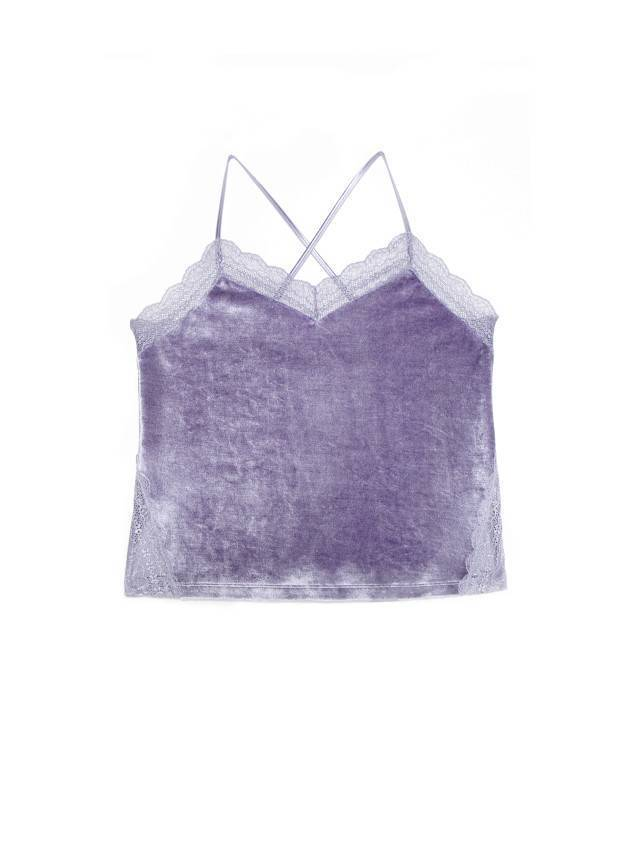 Velour top for home VELVET LOUNGEWEAR LHW 1008, s.170-84, grey-lilac - 3