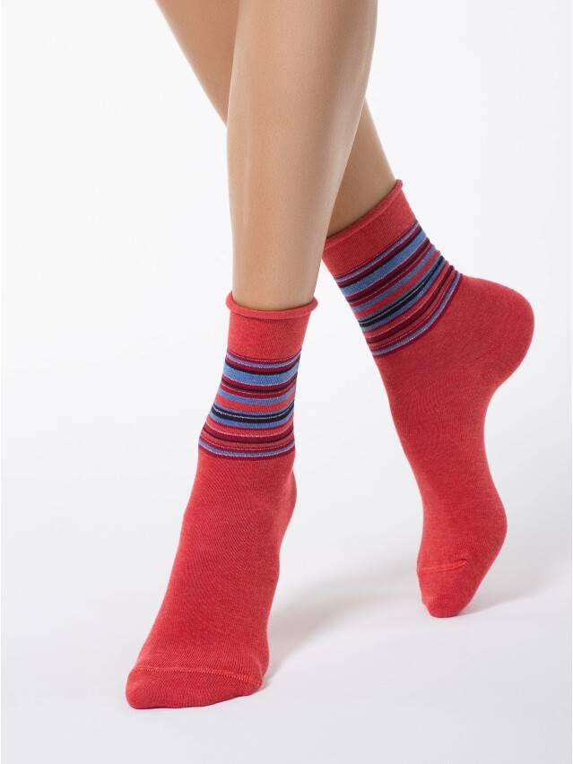 Носки хлопковые женские COMFORT (без резинки) 7С-51СП, р. 36-37, красный, рис. 027 - 1