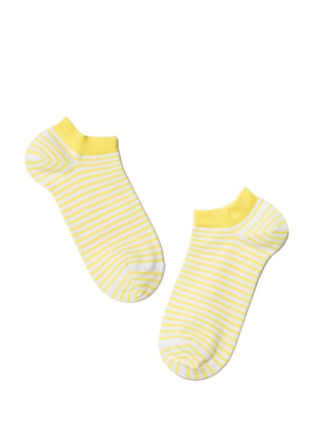 Носки хлопковые женские ACTIVE (ультракороткие) 15С-46СП, р. 36-37, белый-желтый, рис. 073 - 2