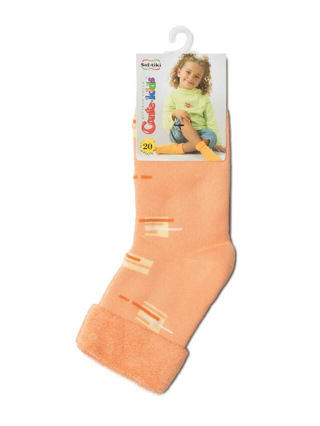 Носки хлопковые детские SOF-TIKI (махровые с отворотом) 6С-19СП, p. 20, персик, рис. 047 - 2