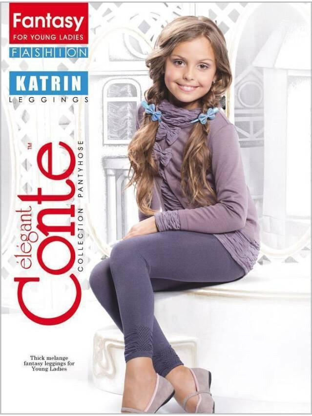 Леггинсы для девочек KATRIN 12С-42СП, p. 140-146, grafit - 1