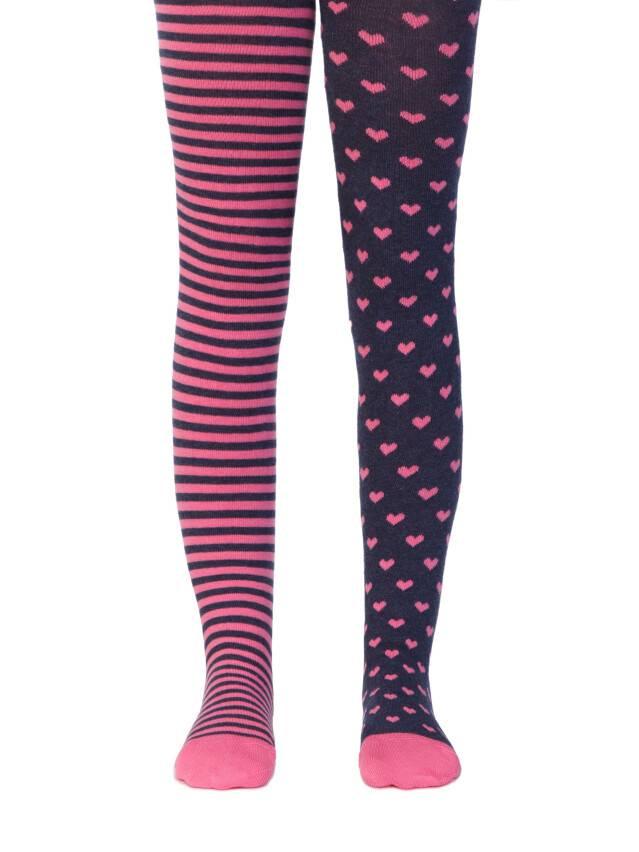 Колготки хлопковые детские TIP-TOP (веселые ножки) 14С-79СП, p. 104-110, темно-синий-розовый, рис. 355 - 1