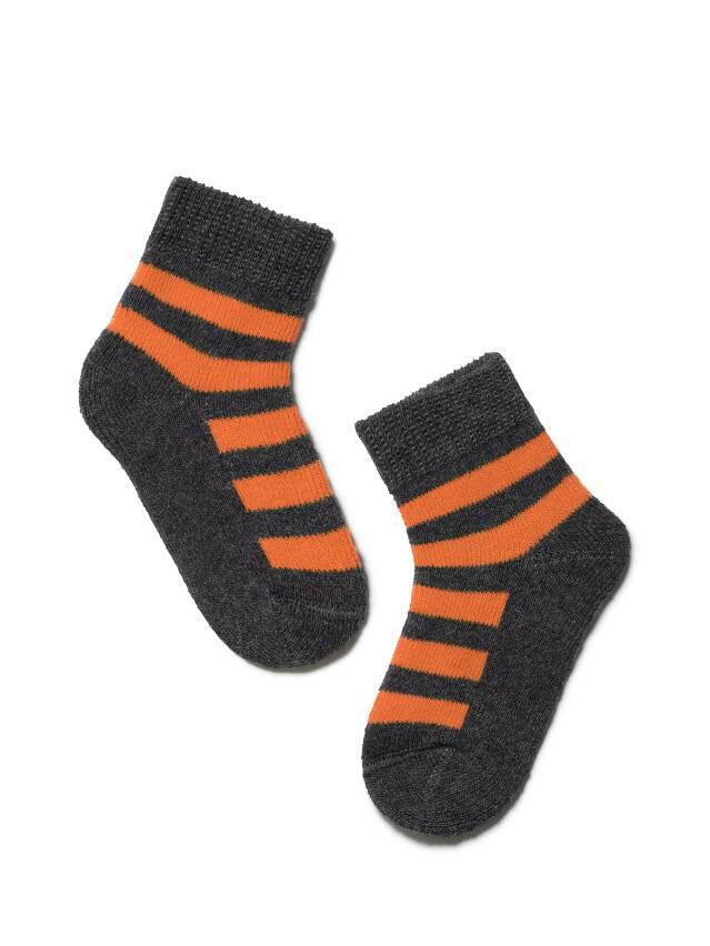 Носки хлопковые детские SOF-TIKI (махровые) 7С-46СП, p. 10, темно-серый-оранжевый, рис. 210 - 1