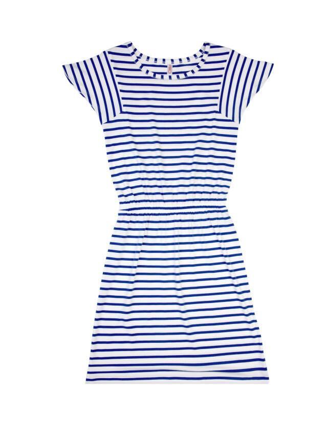 Платье LPL 733, р.158,164-84-90, белый-василек - 3