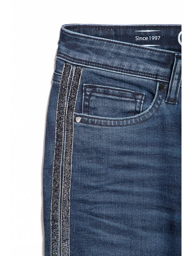 Джинсы Skinny со средней посадкой CON-99, р.170-90, темно-синий - 5