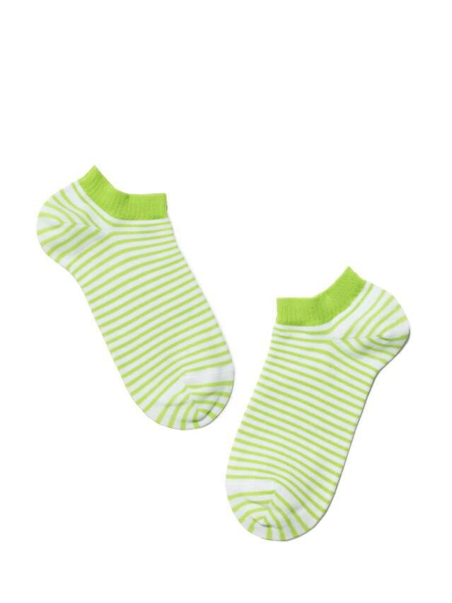 Носки хлопковые женские ACTIVE (ультракороткие) 15С-46СП, р. 36-37, белый-салатовый, рис. 073 - 2