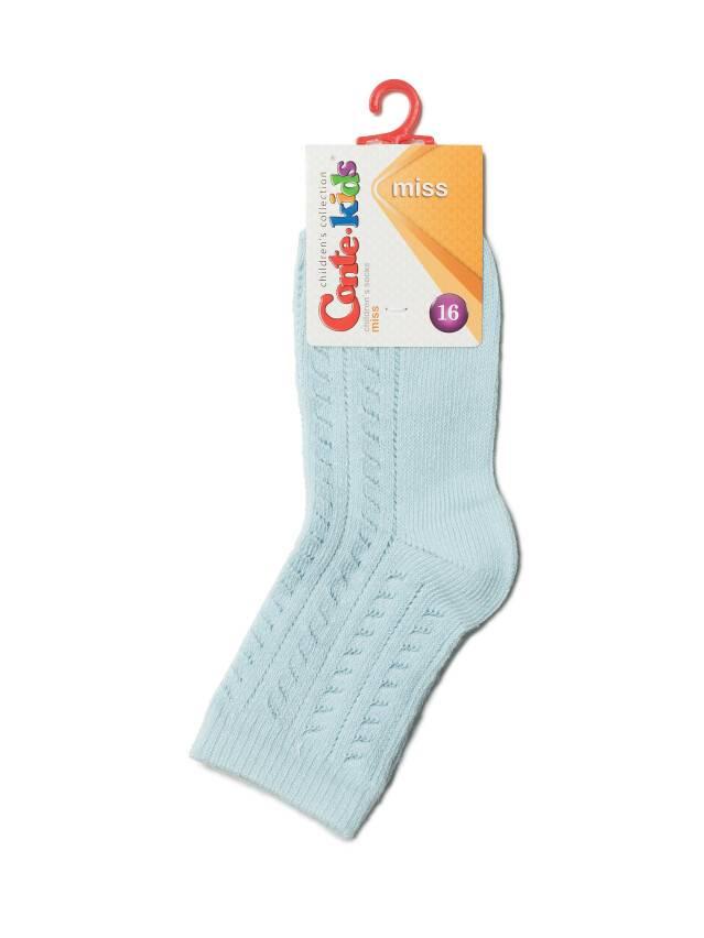 Носки хлопковые детские MISS (ажурные) 7С-76СП, p. 16, светло-голубой, рис. 115 - 2