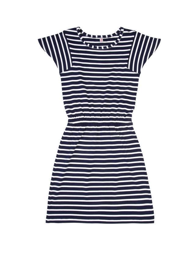 Платье LPL 733, р.158,164-84-90, синий-белый - 3