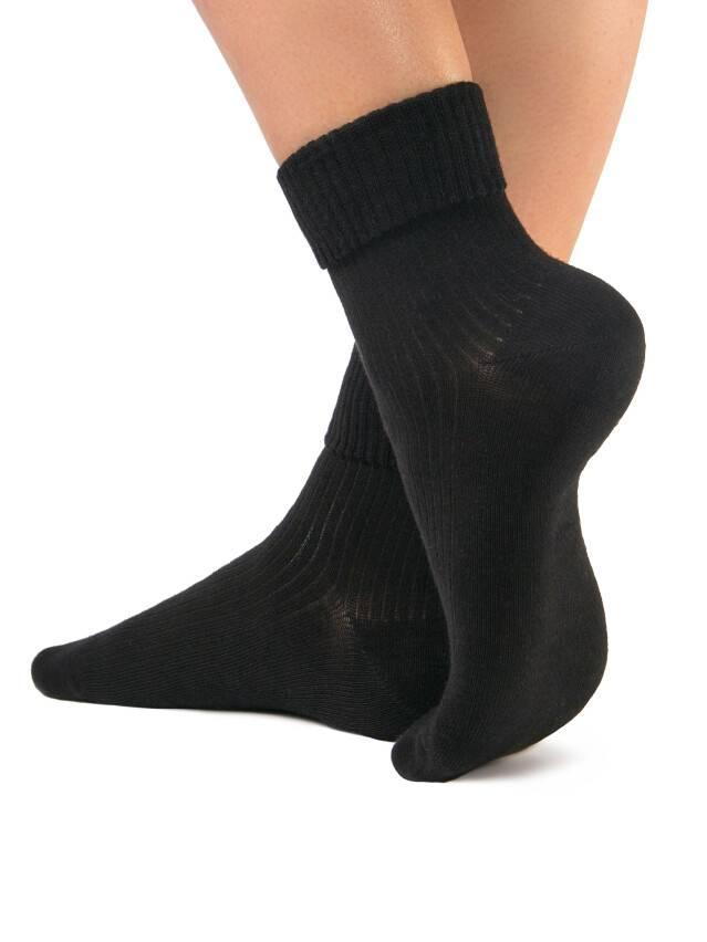 Носки хлопковые женские CLASSIC (с отворотом) 7С-35СП, р. 36-37, черный, рис. 013 - 1