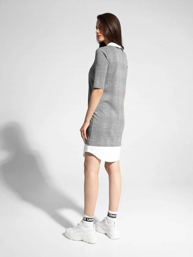 Платье LPL 1052, р.164-84-90, grey-ivory check - 3