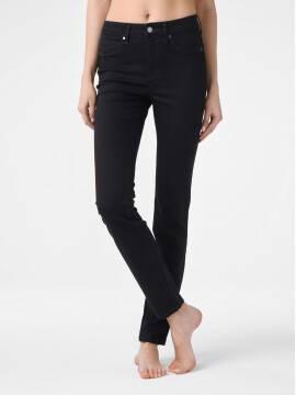 брюки джинсовые моделирующие джинсы skinny premium stay black с высокой посадкой CON-185 lycra® CON-185, размер 164-102, цвет deep black