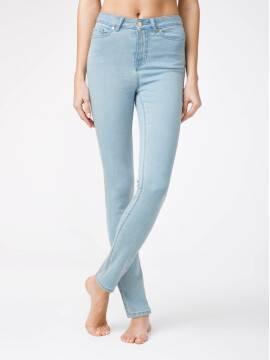 брюки джинсовые eco-friendly джинсы зауженного кроя с высокой посадкой CON-115 CON-115, размер 164-102, цвет bleach blue