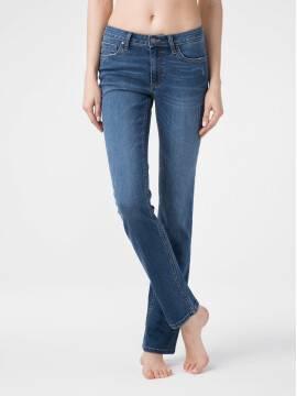 брюки джинсовые ультракомфортные eco-friendly straight джинсы со средней посадкой CON-152 CON-152, размер 164-102, цвет authentic blue