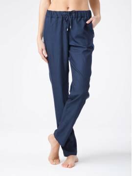 брюки женские джинсовые брюки свободного кроя с лампасами CITY 17С-405ТСП, размер 164-100-106, цвет denim