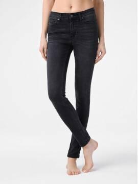 брюки джинсовые моделирующие eco-friendly джинсы skinny со средней посадкой CON-150 CON-150, размер 164-102, цвет washed black