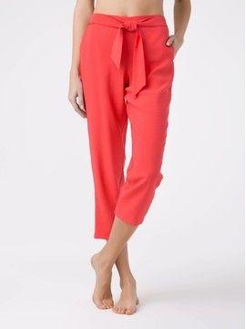 укороченные брюки из вискозы премиального качества FIJI 18С-697ТСП, размер 164-84-90, цвет latte
