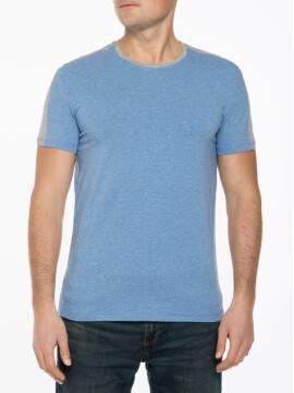 фуфайка мужская футболка MF 692 17С-331ТСП, размер 170,176-100, цвет голубой-серый