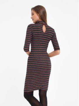 Платье женское Платье в полоску с мерцающим блеском 836-1 18С-511ТСП, размер 170-84-90, цвет nero