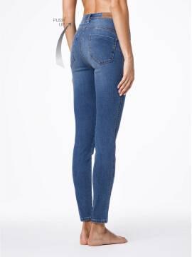джинсы женские моделирующие моделирующие джинсы PUSH UP с высокой посадкой CON-41 , размер 170-90, цвет синий