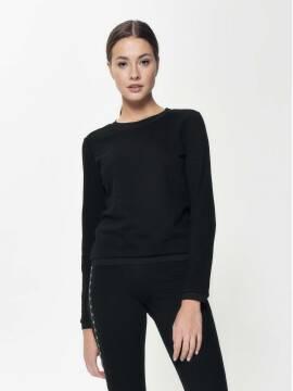 Джемпер женский Ультракомфортный фактурный свитшот LD 888 18С-639ТСП, размер 170-100, цвет black