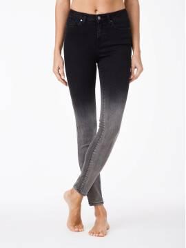 джинсы женские fashion моделирующие джинсы с эффектом градиента CON-57 , размер 164-90, цвет черный