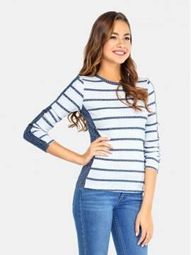 Джемпер женский Джемпер LD 663 17С-280ТСП, размер 158,164-84, цвет белый-синий