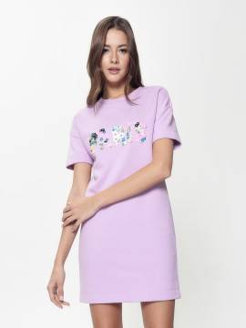платье женское ультракомфортное платье а-силуэта с аппликацией LPL 898 18С-649ТСП, размер 170-84-90, цвет pastel lilac