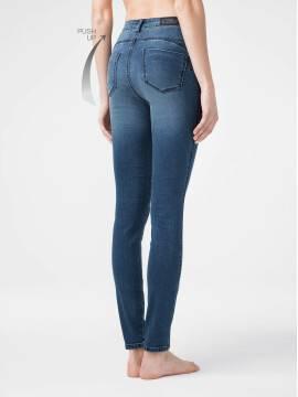 брюки джинсовые моделирующие eco-friendly джинсы skinny push-up с высокой посадкой CON-144 CON-144, размер 164-102, цвет dusty blue