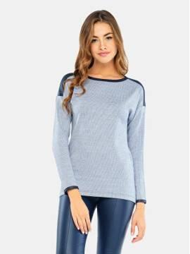 Джемпер женский Джемпер LD 670 17С-287ТСП, размер 158,164-100, цвет белый-синий