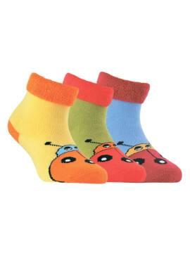 махровые носки SOF-TIKI с отворотом 6С-19СП, размер 14, цвет лимон
