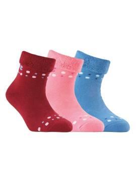 махровые носки SOF-TIKI с отворотом 6С-19СП, размер 18, цвет бордо