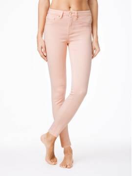 джинсы женские моделирующие ультракомфортные моделирующие джинсы CON-38C , размер 170-90, цвет коралловый