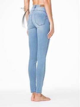 джинсы женские моделирующие моделирующие джинсы PUSH UP с высокой посадкой CON-42 , размер 164-94, цвет голубой