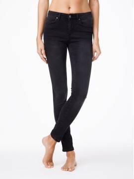 джинсы женские моделирующие моделирующие джинсы skinny со средней посадкой 2992/4937 2992/4937, размер 170-90, цвет темно-серый