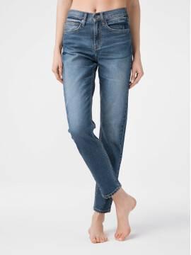брюки джинсовые eco-friendly джинсы vintage relaxed mom с высокой посадкой CON-167 CON-167, размер 164-102, цвет bleach stone