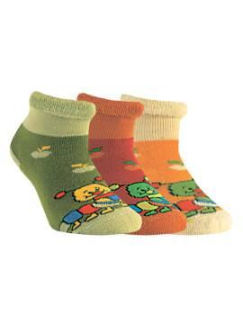 махровые носки SOF-TIKI с отворотом 6С-19СП, размер 12, цвет желтый